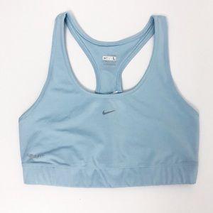 Nike Fit Light Blue Sports Bra L